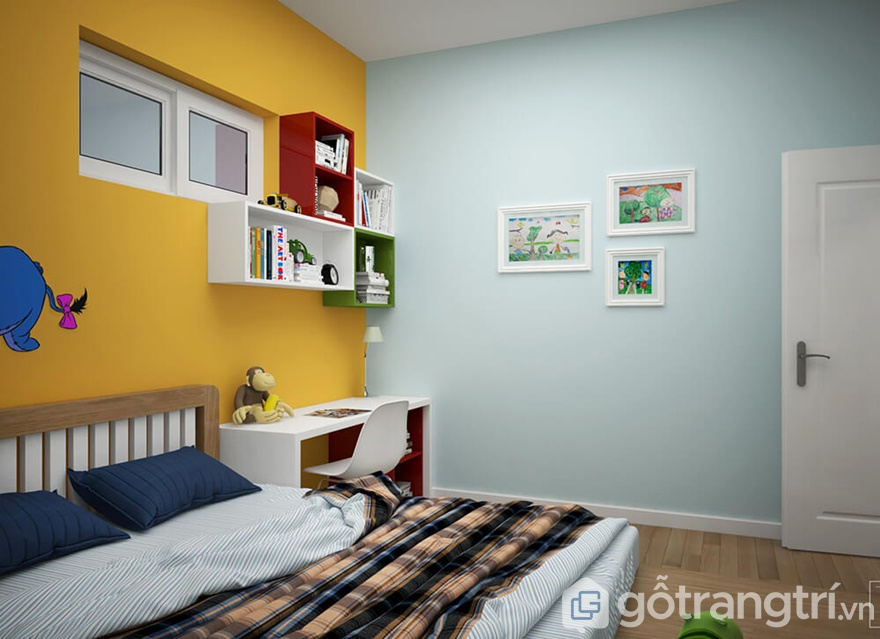 Thiết kế nội thất Golden Park Tower 2 phòng ngủ hợp phong thủy