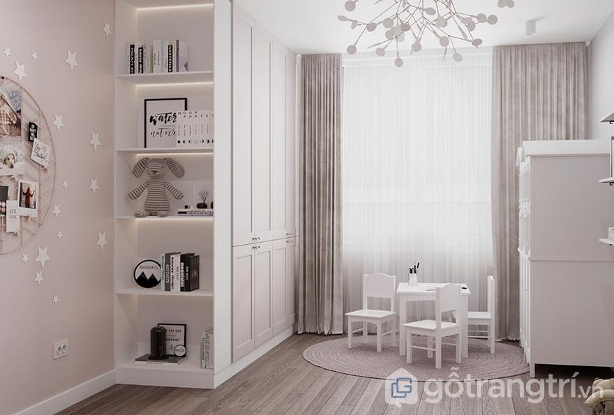 Thiết kế nội thất căn hộ 2.5 phòng ngủ Hateco Laroma