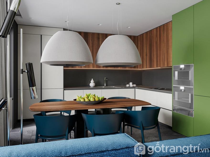 Thiết kế nội thất chung cư Samsora Premier 105 2 phòng ngủ - Phòng bếp
