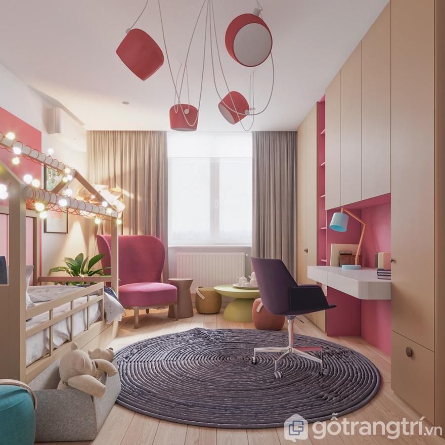 Phòng ngủ con cái trang trí hết sức đáng yêu
