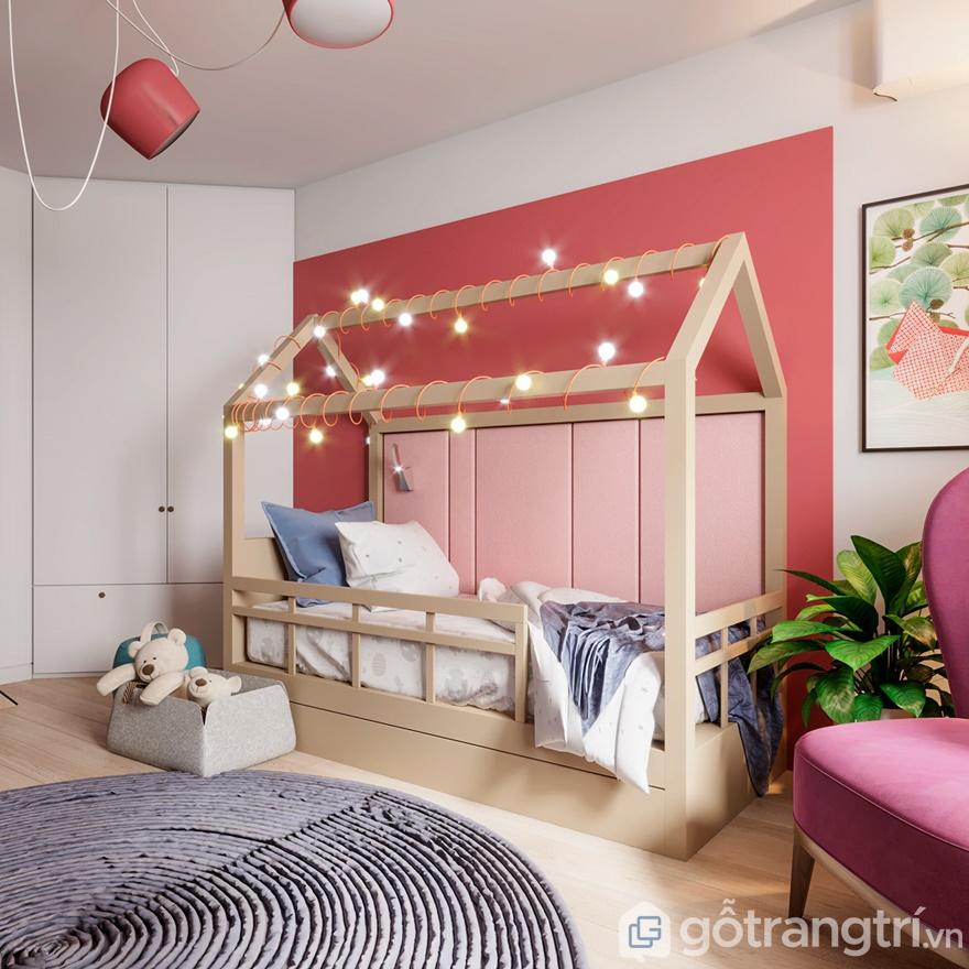Phòng ngủ cho con thiết kế xinh tươi, hấp dẫn