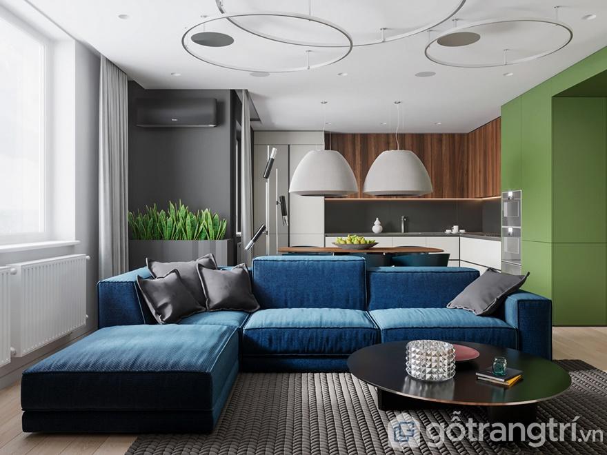 Thiết kế nội thất chung cư Samsora Premier 105 2 phòng ngủ - Phòng khách