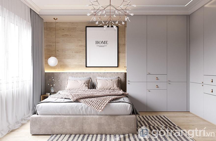 Thiết kế nội thất phòng ngủ master cho cặp vợ chồng