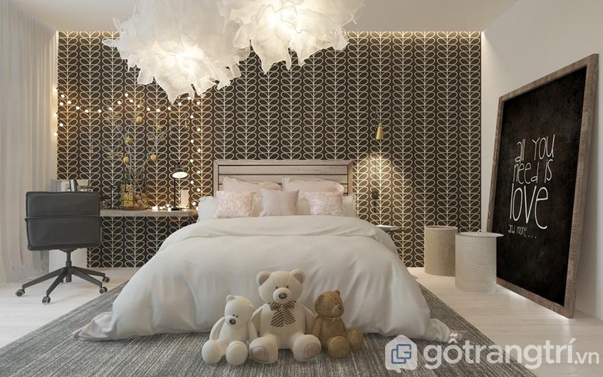 Thiết kế nội thất phòng ngủ cho con gái giống như phòng công chúa