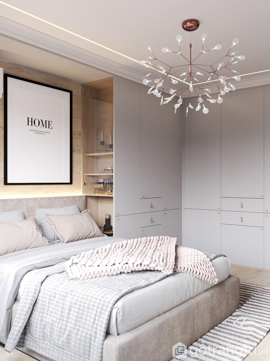 Phòng ngủ ấn tượng hơn với đèn trang trí