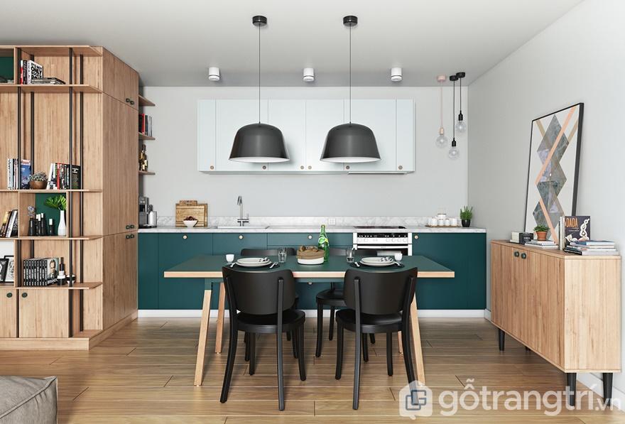 Thiết kế căn hộ Samsora Premier 105 3 phòng ngủ: Phòng bếp
