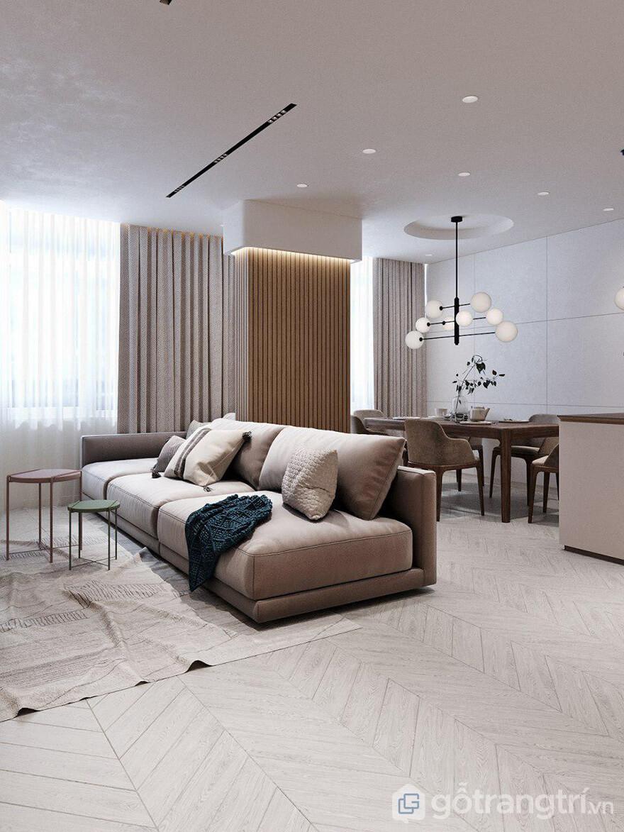 Thiết kế nội thất căn hộ Hateco Laroma 87m2