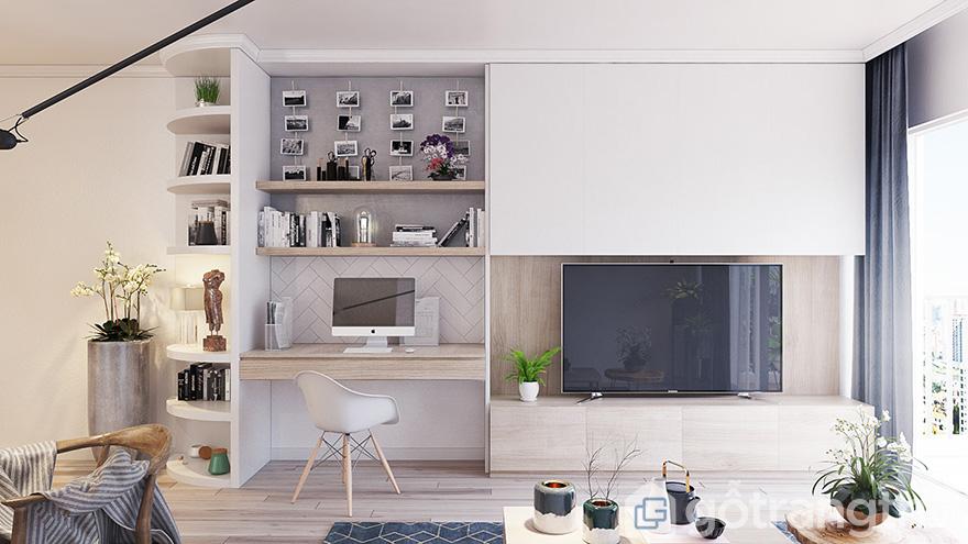 thiết kế nội thất căn hộ eco lake view 2 phòng ngủ