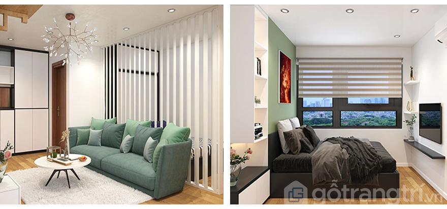 Thiết kế nội thất chung cư FLC Garden City 50m2