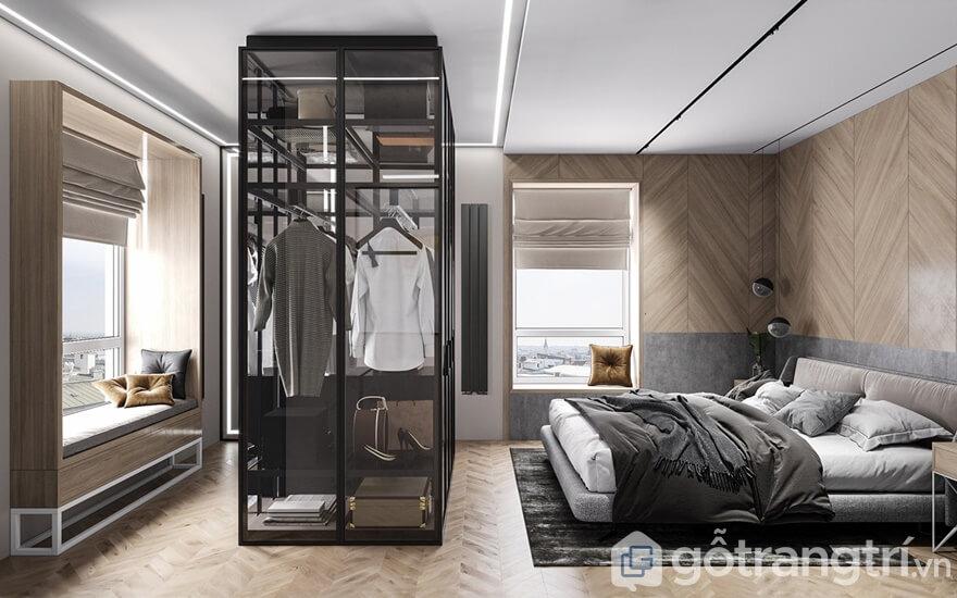Phòng ngủ thiết kế rất thoáng đạt, đầy đủ tiện nghi