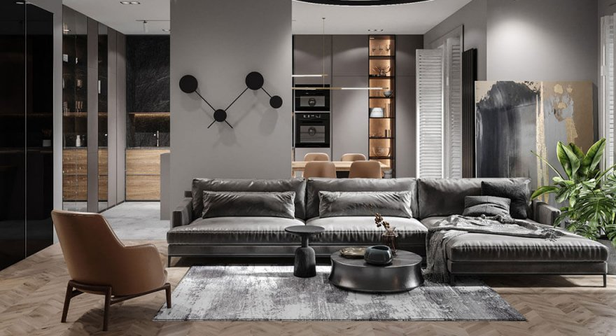 Thiết kế nội thất chung cư Sunshine City 2 phòng ngủ - Gotrangtri.vn
