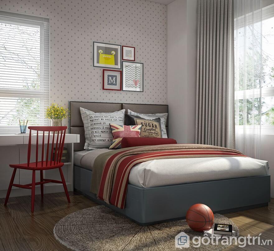 Phòng ngủ thiết kế thông thoáng