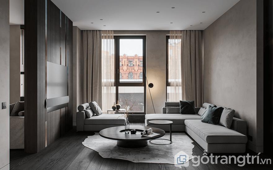 Trang trí nội thất phòng khách chung cư Golden Park Tower