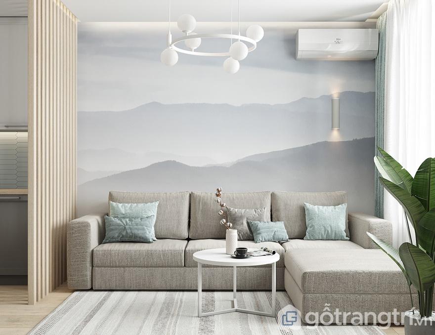 Thiết kế nội thất chung cư samsora premier 10580,9 m2 - Phòng khách
