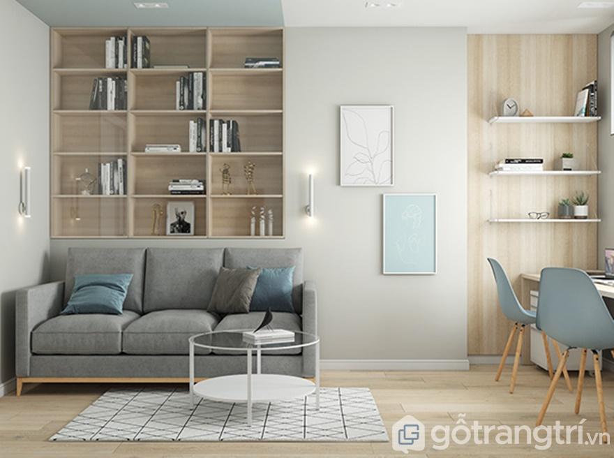 Phòng ngủ được lát sàn gỗ công nghiệp MDF cao cấp