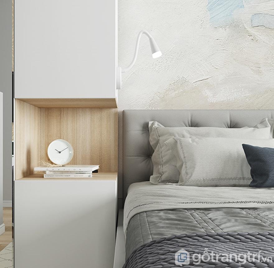 Tab đầu giường là nơi để gia chủ đặt đồng hồ báo thức
