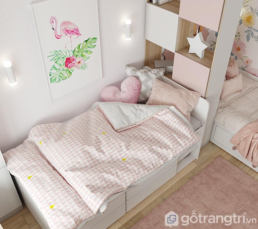 Giường ngủ nhỏ xinh