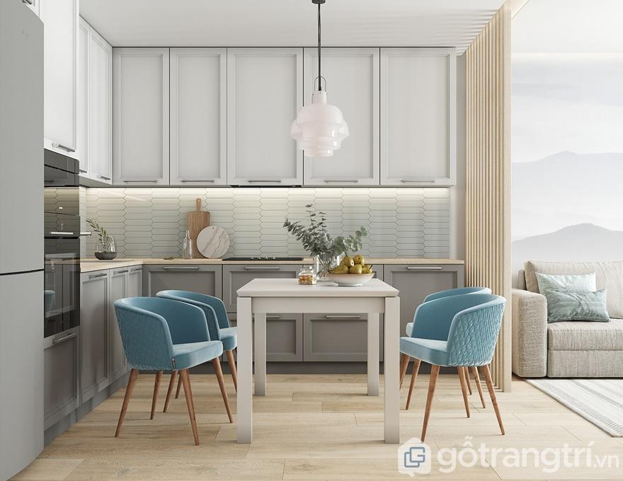 Thiết kế nội thất chung cư samsora premier 10580,9 m2 - Phòng bếp
