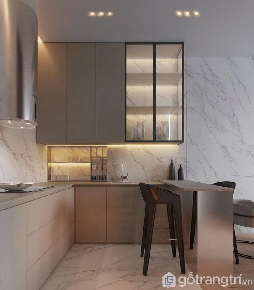 Thi công nội thất Samsora Premier 105 70m2: Phòng bếp