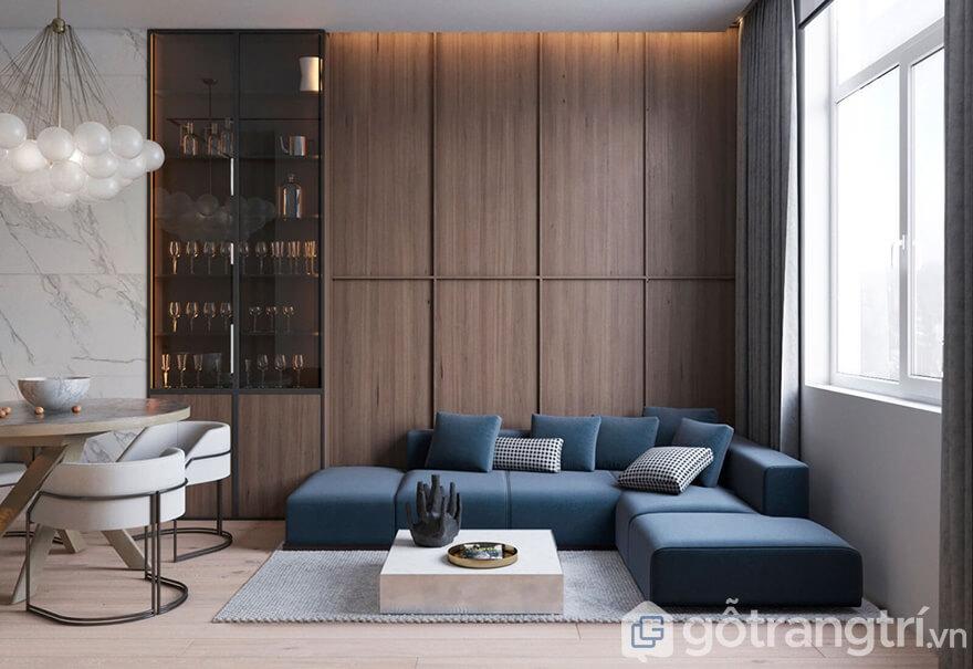Thi công nội thất Samsora Premier 105 70m2 - Phòng khách