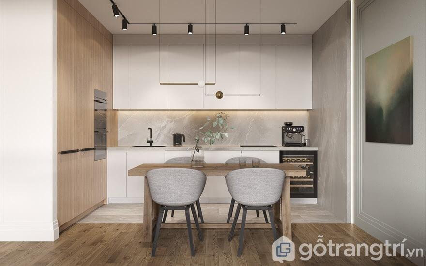 Mẫu nội thất chung cư Cầu Giấy Center Point 2 phòng ngủ- Phòng bếp