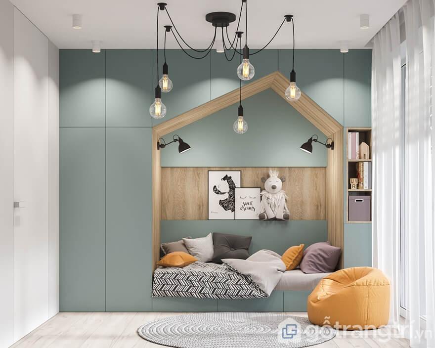 Thiết kế căn hộ Cầu Giấy Center Point 3 phòng ngủ: Phòng ngủ con gái