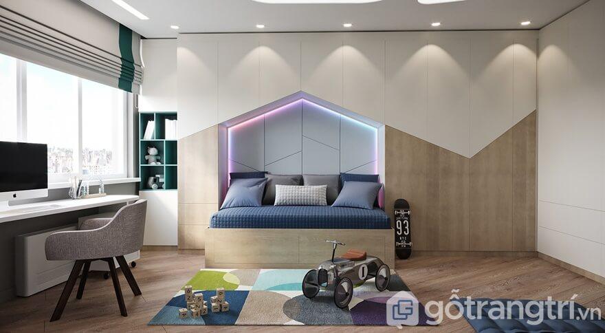 Thiết kế căn hộ Cầu Giấy Center Point 3 phòng ngủ: Phòng ngủ con trai