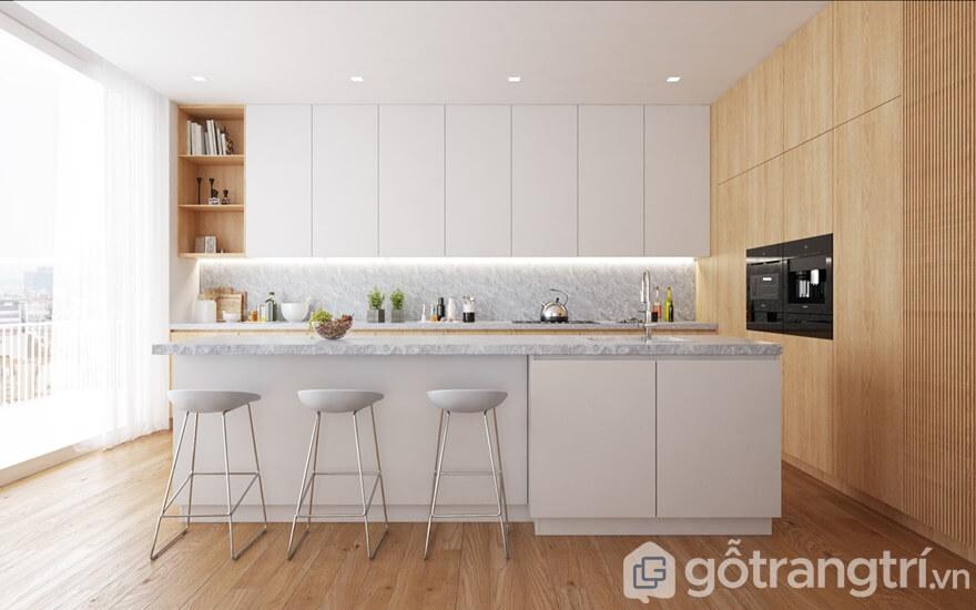 Mẫu nội thất chung cư Cầu Giấy Center Point 3 phòng ngủ- Phòng bếp