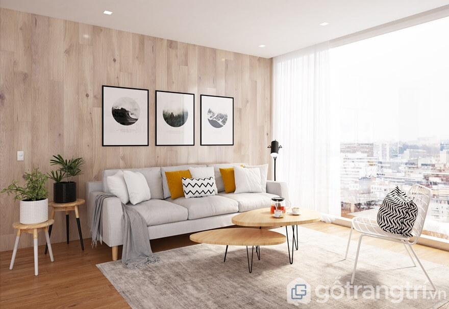 Thiết kế căn hộ Cầu Giấy Center Point 3 phòng ngủ: Phòng khách