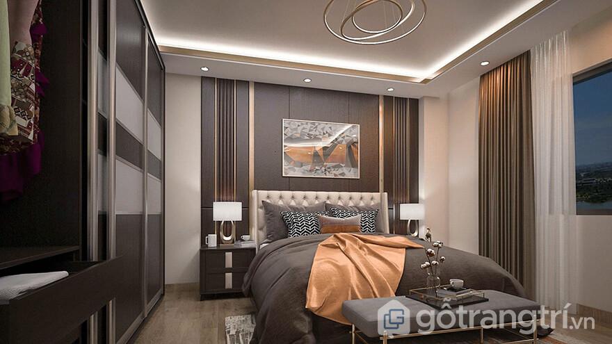 thiết kế chung cư bea sky nguyễn xiển 2 phòng ngủ