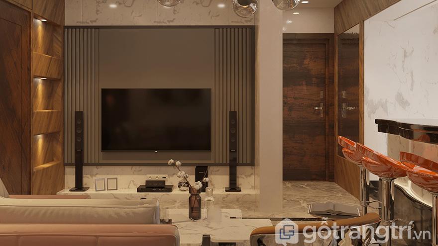 Thiết kế chung cư Bea Sky Nguyễn Xiển 80m2 đẹp