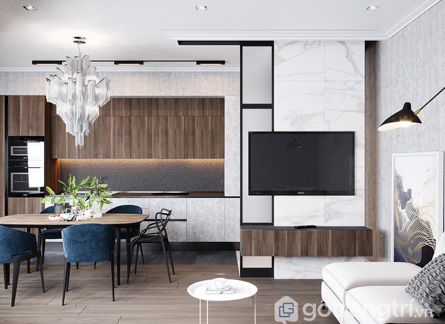 Thiết kế nội thất chung cư 68m2 Bea Sky Nguyễn XiểnThiết kế nội thất chung cư 68m2 Bea Sky Nguyễn Xiển