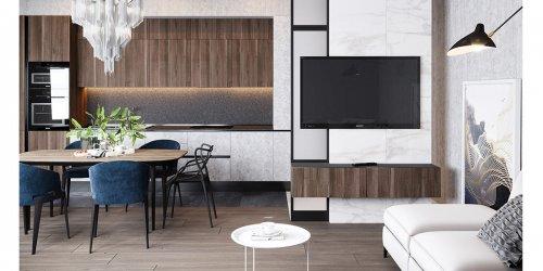 Thiết kế nội thất chung cư 68m2 Bea Sky Nguyễn Xiển – Anh Thành
