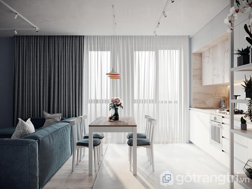 mẫu thiết kế căn hộ Ecohome 3 diện tích 70m2