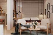 Thiết kế nội thất chung cư Park Kiara 82m2 đẹp ngọt ngào