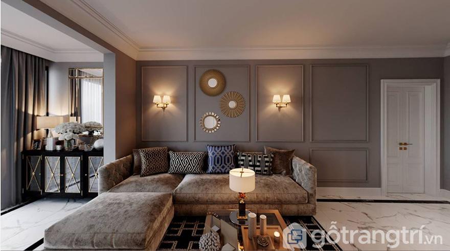 Thiết kế nội thất phòng khách chung cư Park Kiara
