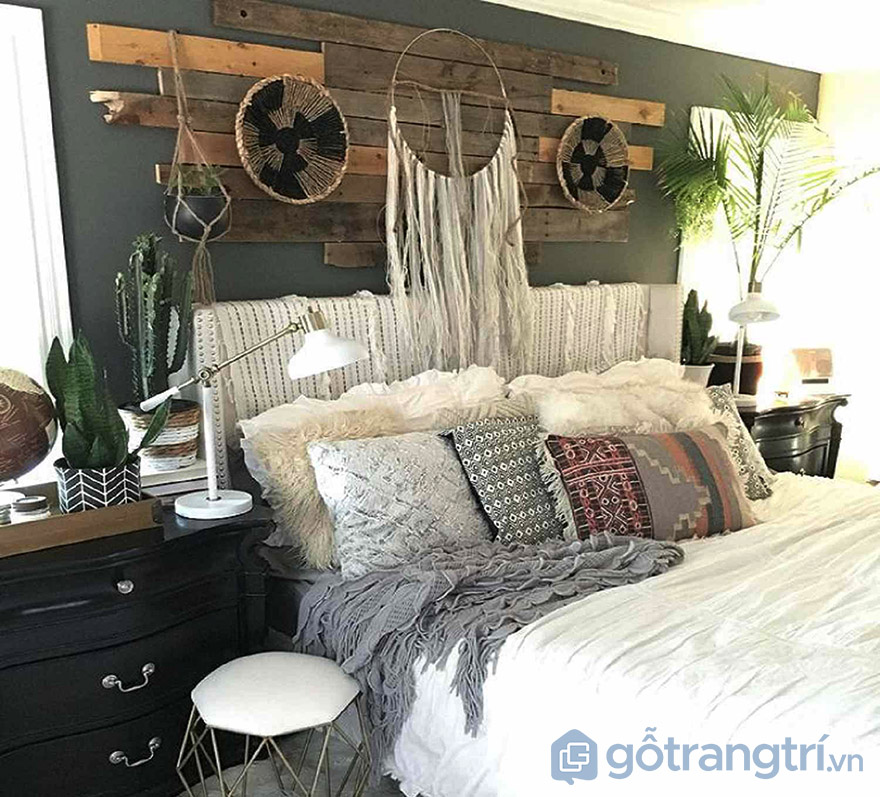 Mẫu giường cưới đẹp 2020 Vintage