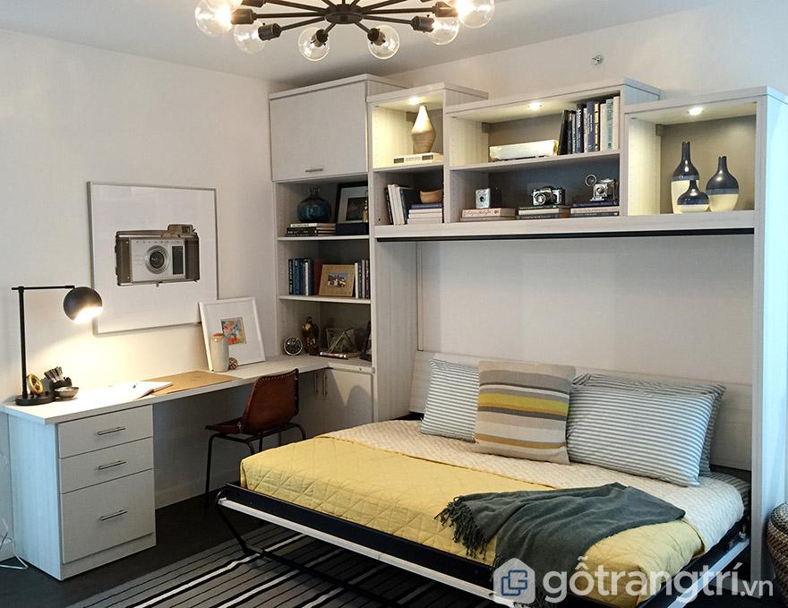Giường thông minh 1m2 kết hợp tủ