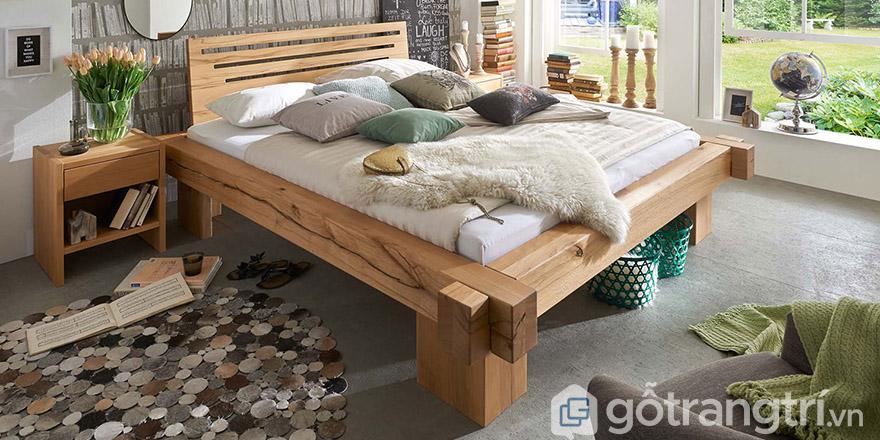 Giường gỗ MDF 1m8 Hà Nội