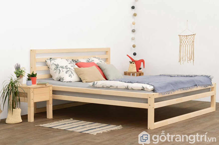 giường gỗ ép 1m2 giá rẻ