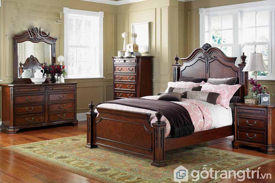 giường hoàng gia gỗ đỏ