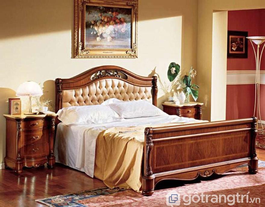 Mẫu giường hoàng gia từ gỗ đỏ thật