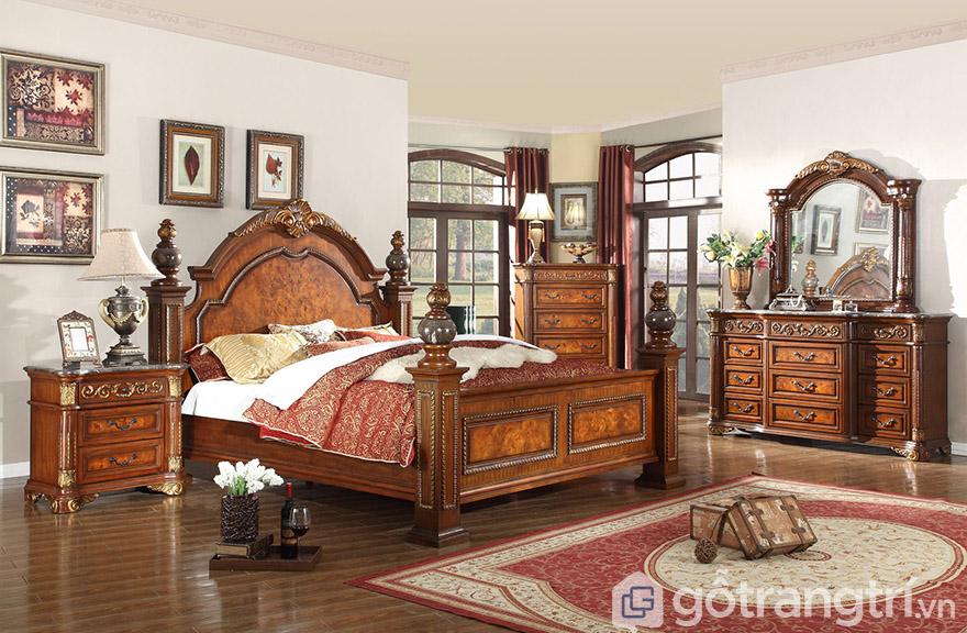 giường hoàng gia đẹp gỗ tự nhiên