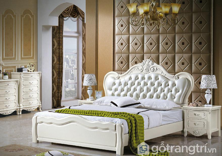 Giường ngủ hoàng gia gỗ công nghiệp