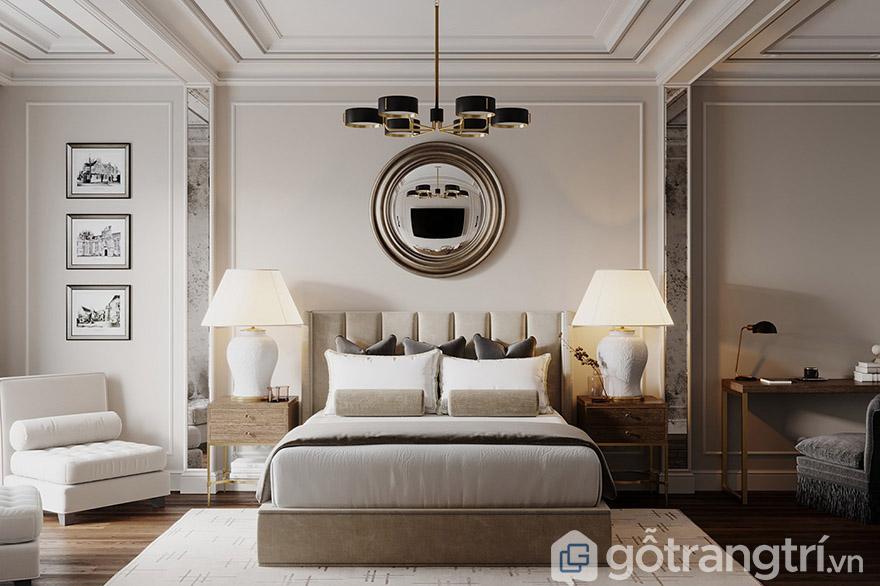 giường tân cổ điển 1m6
