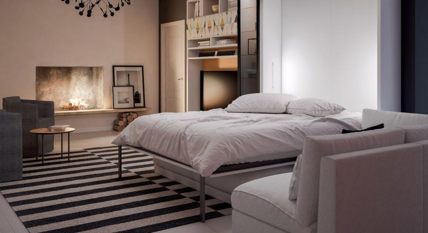 Giường thông minh kèm sofa