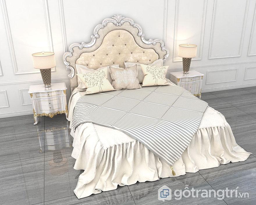 Mẫu giường cưới đẹp 2020 phong cách tân cổ Châu Âu