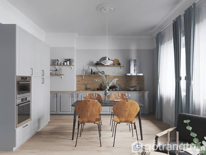 Mẫu nội thất Mipec Rubik 360 3 phòng ngủ: Phòng bếp