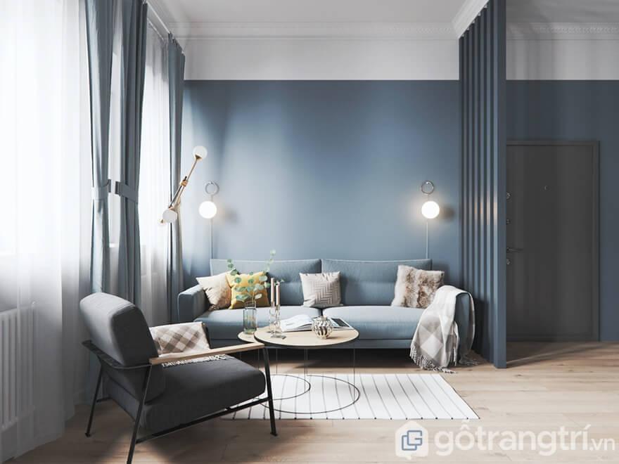 Mẫu nội thất Mipec Rubik 360 3 phòng ngủ: Phòng khách