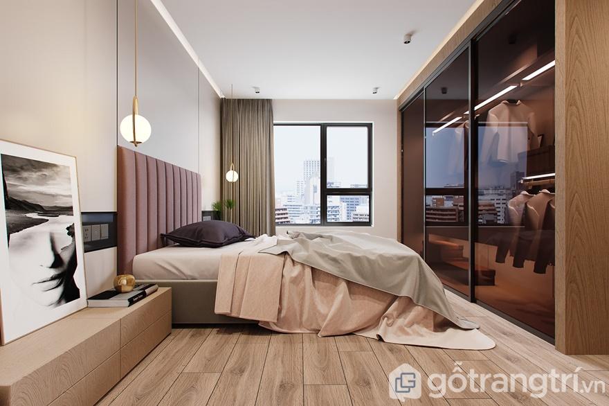 Giường ngủ đặt ngay cạnh cửa sổ